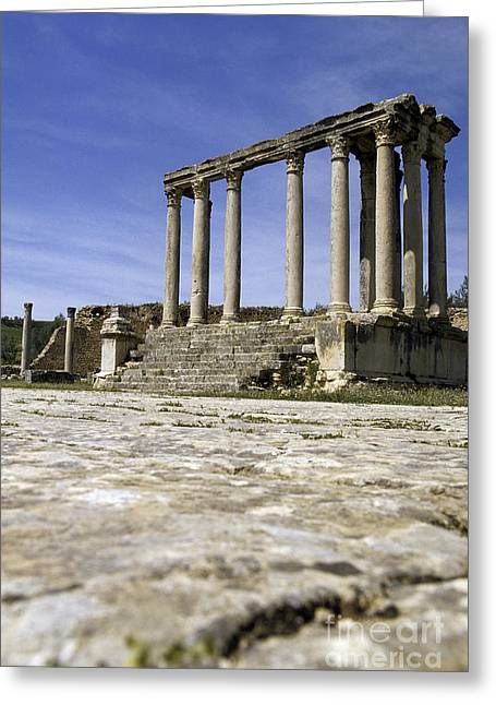 African Heritage Greeting Cards - Roman ruins Tunisia Greeting Card by Ryan Fox