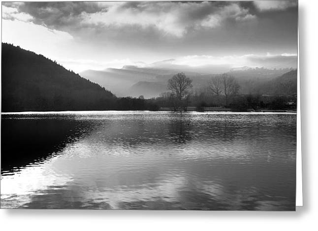 Temperature Greeting Cards - Romantic lake Greeting Card by Bernard Jaubert