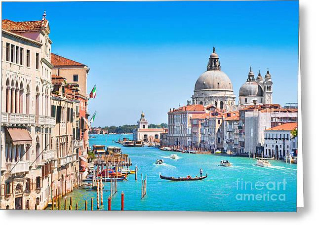 Italian Islands Greeting Cards - Romantic Venice Greeting Card by JR Photography