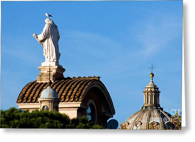 Carved Bird Greeting Cards - Rome Greeting Card by Tim Holt