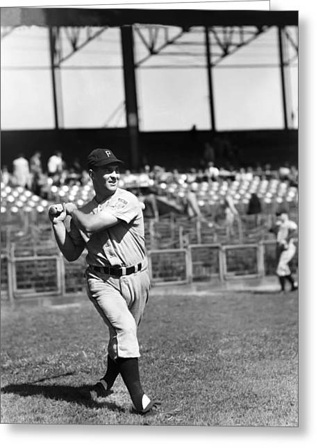 Baseball Bat Greeting Cards - Ronald J. Ron Northey Greeting Card by Retro Images Archive