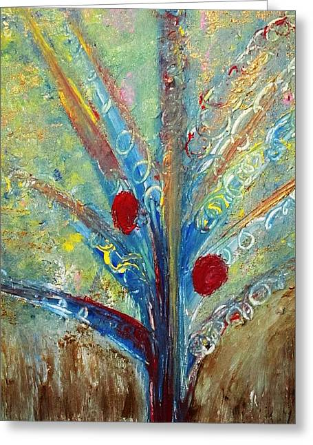 Tree Roots Paintings Greeting Cards - Rooted Greeting Card by Sherrie A Taylor