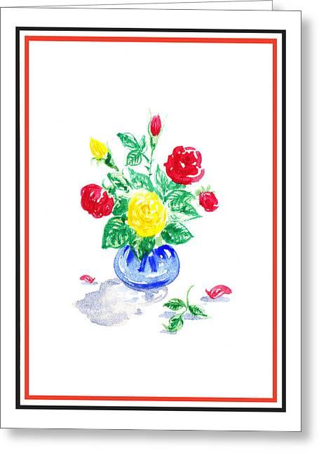 Landscape. Scenic Greeting Cards - Rose Bouquet Greeting Card by Irina Sztukowski
