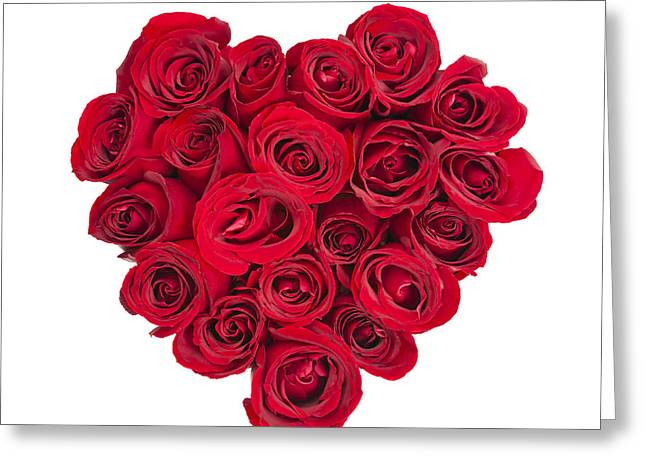 Valentine Greeting Cards - Rose heart Greeting Card by Elena Elisseeva