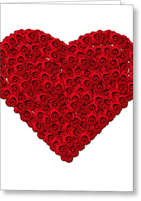 Valentine Greeting Cards - Rose Heart Greeting Card by Jacqui Martin