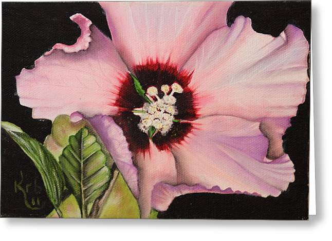 Althea Paintings Greeting Cards - Rose of Sharon Greeting Card by Karen Beasley