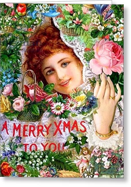 Christmas Greeting Photographs Greeting Cards - Roses Greeting Card by Munir Alawi