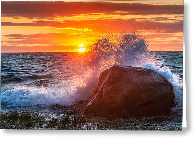 Cape Cod Bay Greeting Cards - Rough Sea Greeting Card by Bill  Wakeley
