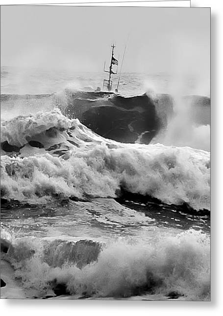 Photomatix Pro Greeting Cards - Rough Sea Training Greeting Card by Dale Stillman