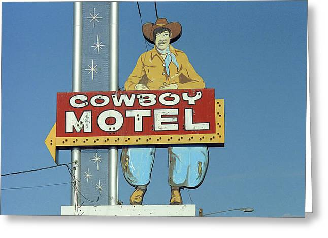 West Tx Greeting Cards - Route 66 - Cowboy Motel Greeting Card by Frank Romeo
