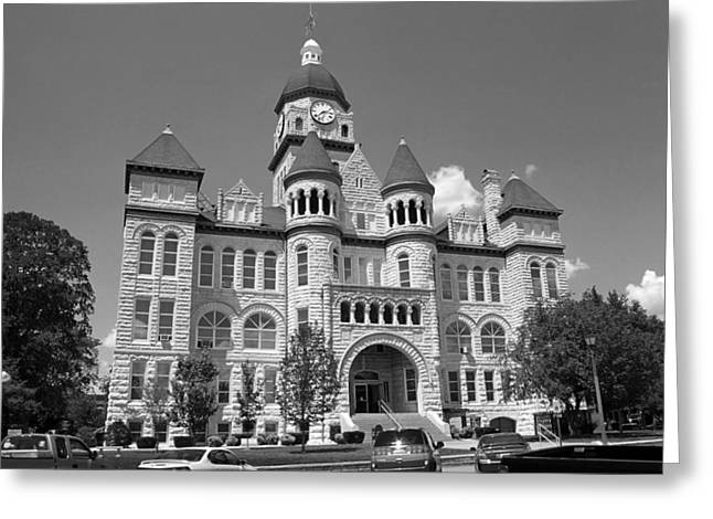 Route 66 - Jasper County Courthouse Greeting Card by Frank Romeo