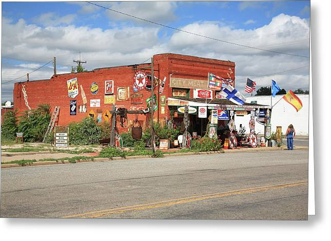 Historic Country Store Greeting Cards - Route 66 - Sandhills Curiosity Shop Greeting Card by Frank Romeo