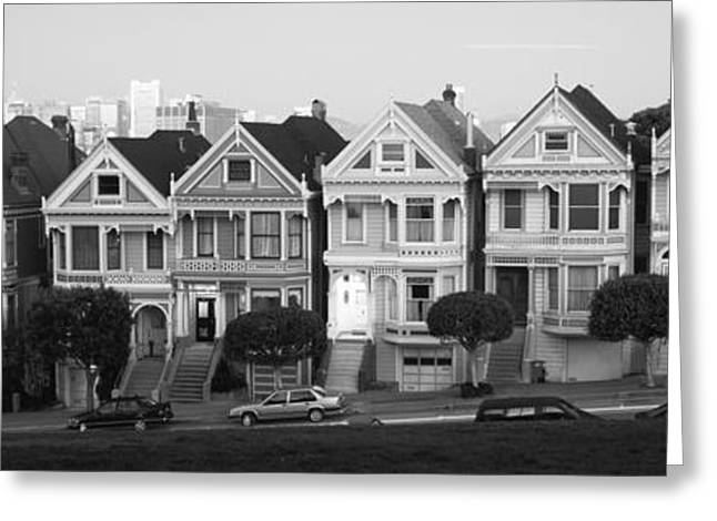 Row Houses In A City, Postcard Row, The Greeting Card by Panoramic Images