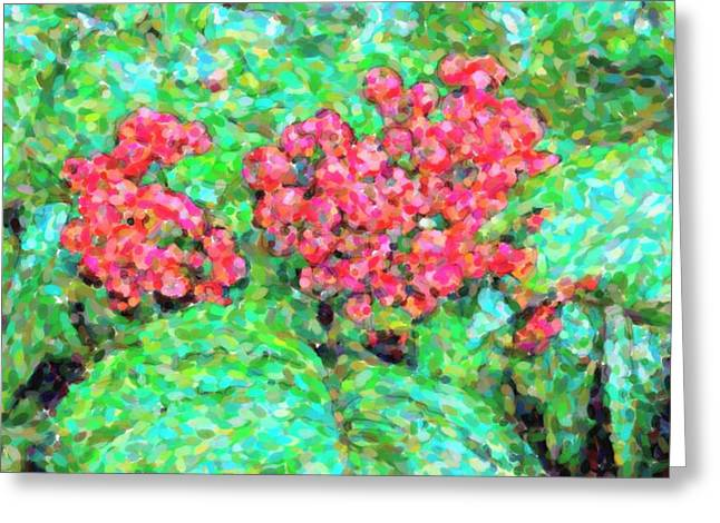 Fruit Tree Art Greeting Cards - Rowan berries Greeting Card by Toppart Sweden