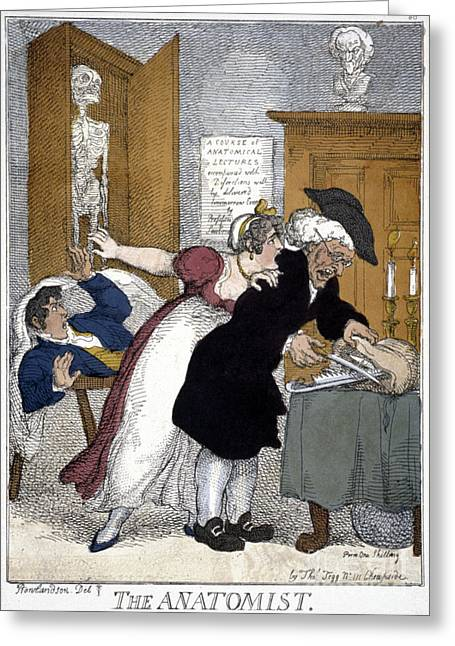 Rowlandson Greeting Cards - Rowlandson Cartoon Greeting Card by Granger