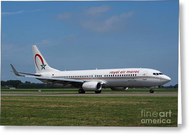 Klm Greeting Cards - Royal Air Maroc Boeing 737 Greeting Card by Paul Fearn