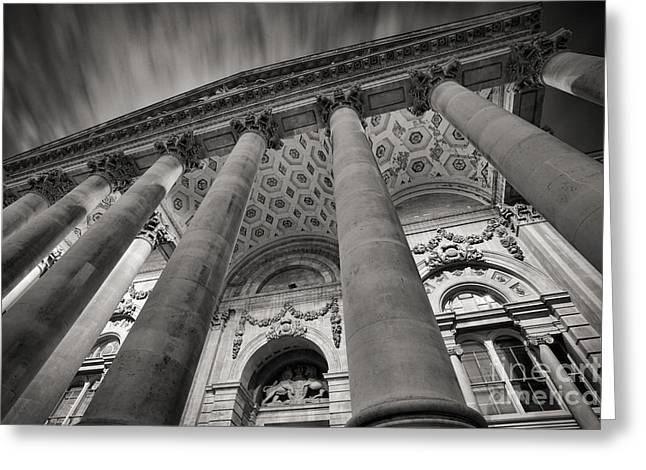 Illuminate Greeting Cards - Royal Exchange London Greeting Card by Rod McLean