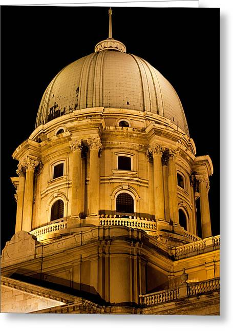 Cupola Greeting Cards - Royal Palace Dome in Budapest Greeting Card by Artur Bogacki