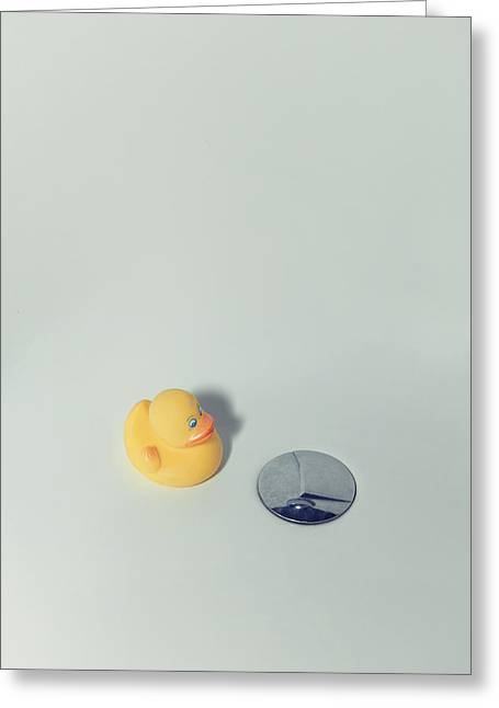 Ducky Greeting Cards - Rubber Duck Greeting Card by Joana Kruse
