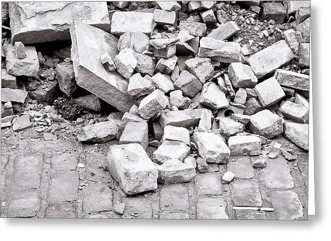 Collapsing Greeting Cards - Rubble Greeting Card by Tom Gowanlock