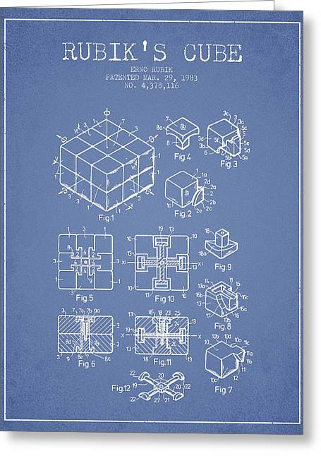 Rubiks Cube Greeting Cards - Rubiks Cube Patent from 1983 Greeting Card by Aged Pixel