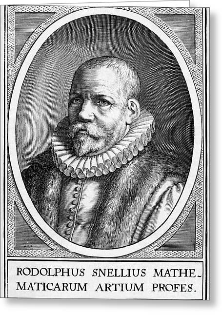 Rudolph Greeting Cards - Rudolph Snellius, Dutch Mathematician Greeting Card by Middle Temple Library