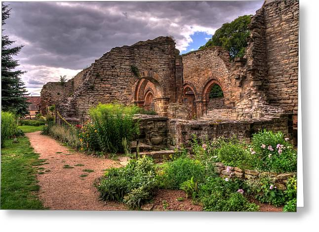 Kloster Greeting Cards - Ruine Greeting Card by Steffen Gierok