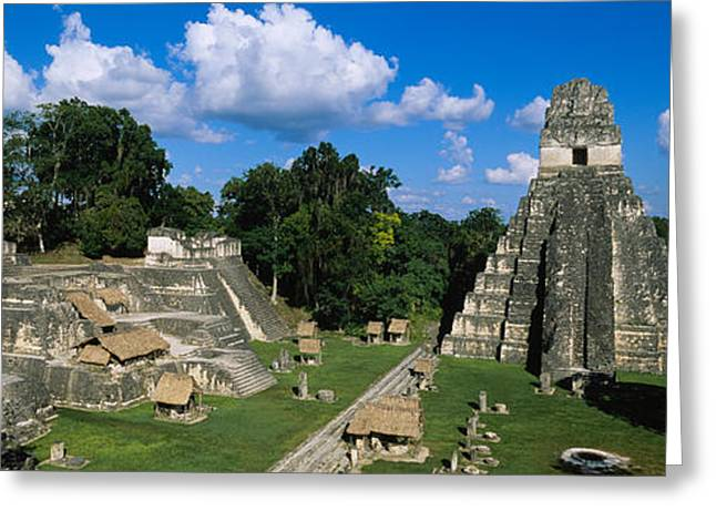 Civilization Greeting Cards - Ruins Of An Old Temple, Tikal, Guatemala Greeting Card by Panoramic Images