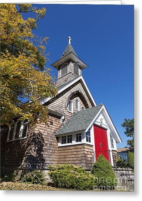 Episcopalians Greeting Cards - Rural Church Greeting Card by John Greim