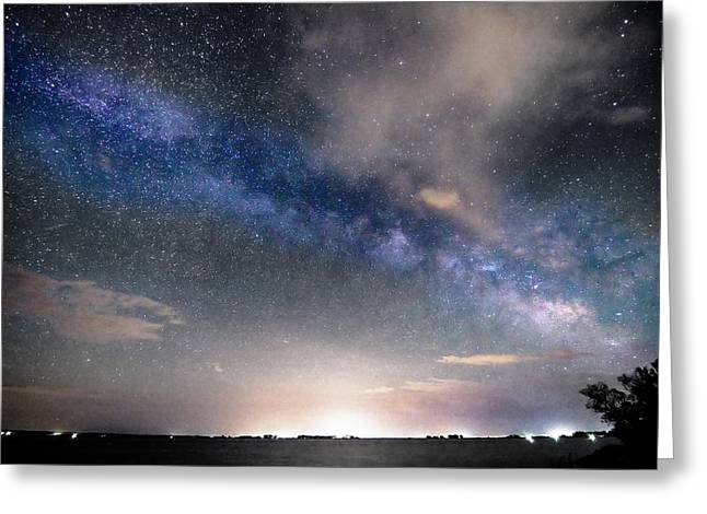Morgan County Greeting Cards - Rural Evening Sky BWSC Greeting Card by James BO  Insogna