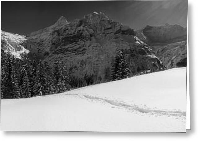 Mountain Valley Greeting Cards - Rural Switzerland Panorama Greeting Card by Mountain Dreams