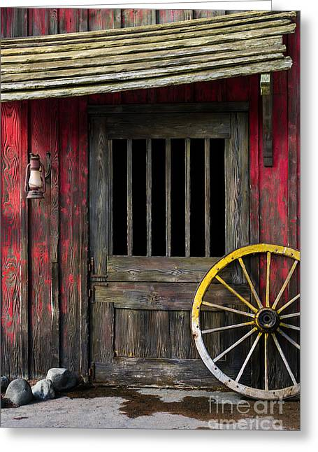 Rustic Cabin Greeting Cards - Rural Wertern Greeting Card by Carlos Caetano