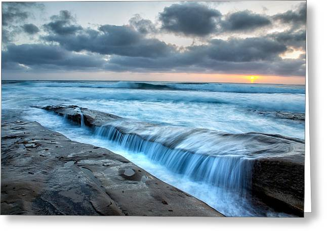 California Beach Greeting Cards - Rush Greeting Card by Peter Tellone