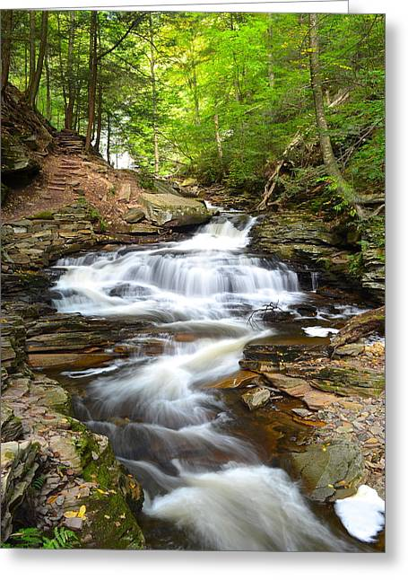 Euphoria Greeting Cards - Rushing Water Greeting Card by Frozen in Time Fine Art Photography