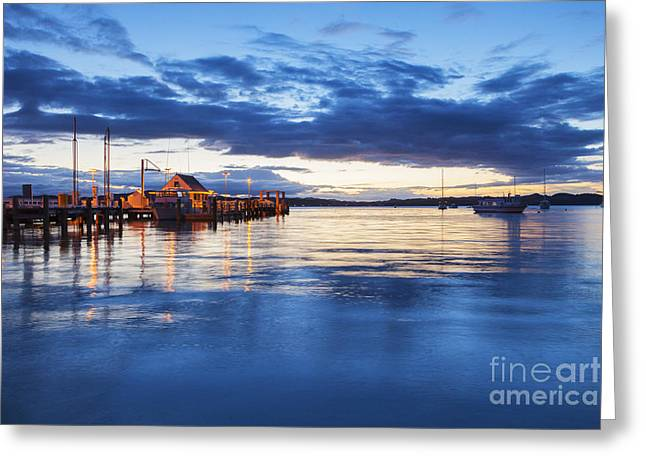 North Island Greeting Cards - Russell Bay of Islands New Zealand Greeting Card by Colin and Linda McKie