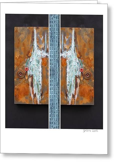 Rust Art 02 Greeting Card by Gertrude Scheffler