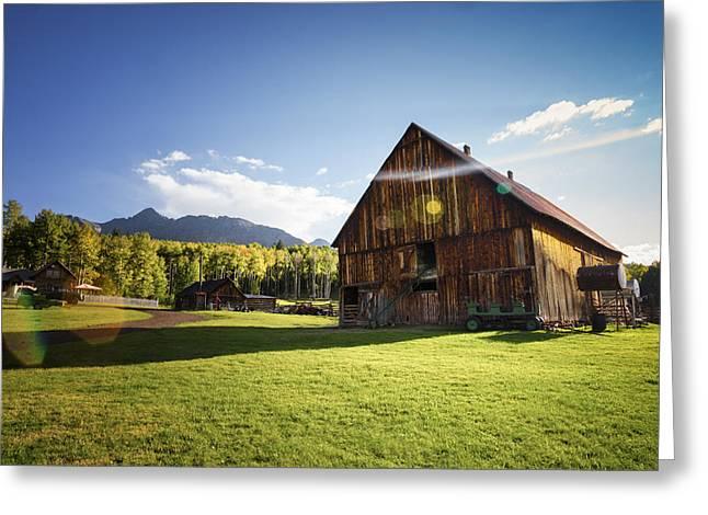 Schmid Greeting Cards - Rustic Barn in Autumn  Greeting Card by Robert Ingelhart