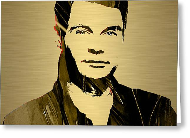 Kiss Greeting Cards - Ryan Seacrest Collection Greeting Card by Marvin Blaine
