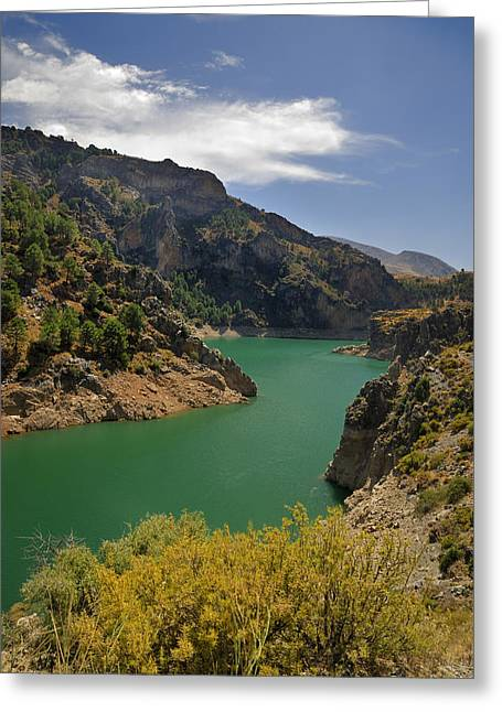 Spain Greeting Cards - S lake Greeting Card by Guido Montanes Castillo