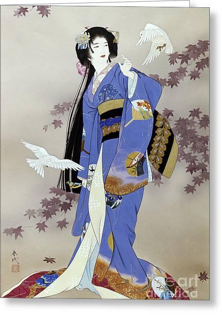 Haruyo Morita Greeting Cards - Sachi Greeting Card by Haruyo Morita