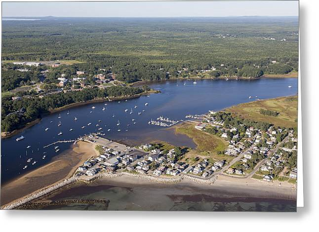 Saco River Greeting Cards - Saco, Maine Me Greeting Card by Dave Cleaveland