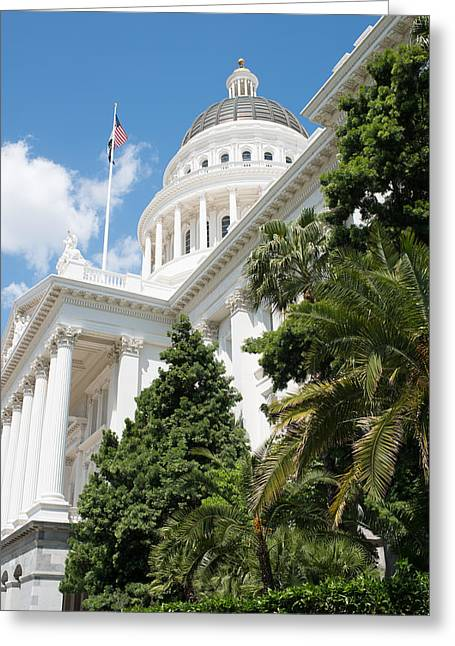 Initiative Greeting Cards - Sacramento Capitol Building of California Greeting Card by Brandon Bourdages