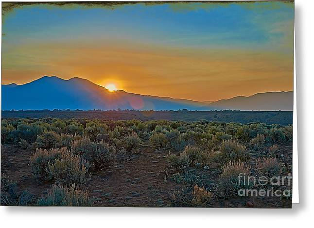 New Mexico Greeting Cards - Sacred Sunrise Greeting Card by Charles Muhle