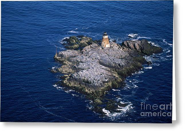 Ledge Photographs Greeting Cards - Saddleback Ledge Lighthouse Greeting Card by Bruce Roberts