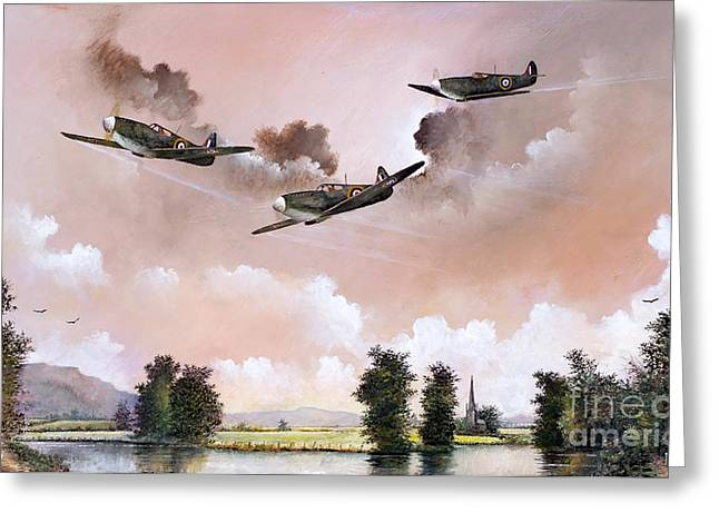 Airforce Paintings Greeting Cards - Safe Return Greeting Card by Ken Wood