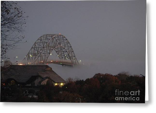 View Tapestries - Textiles Greeting Cards - Sagamore Bridge Greeting Card by Lisa  Marie Germaine