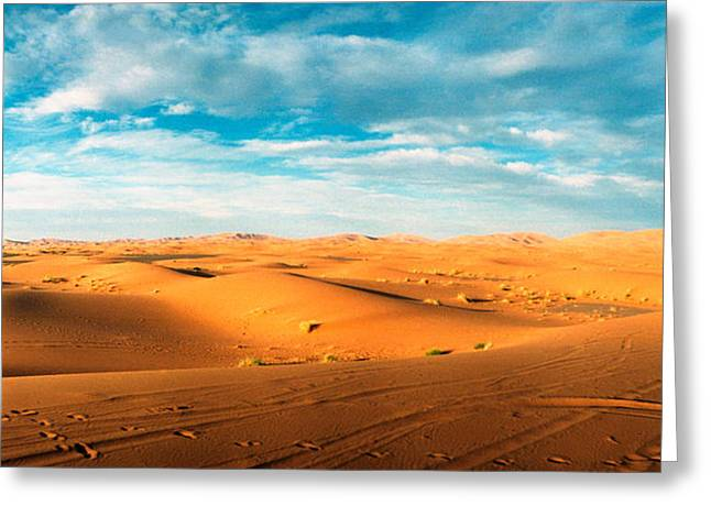 Sahara Desert Landscape, Morocco Greeting Card by Panoramic Images