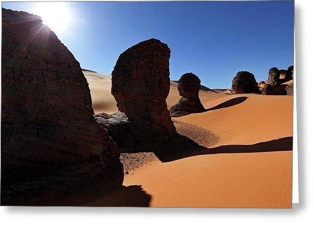 Saharan Rock Formations Greeting Card by Martin Rietze