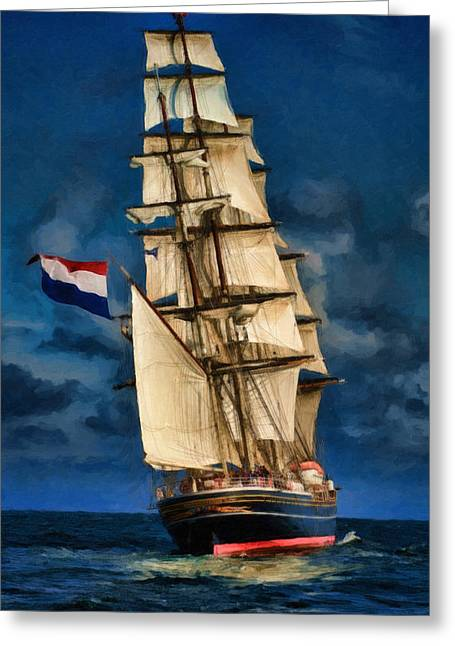 Tall Ships Greeting Cards - Sail Away Greeting Card by Dale Jackson