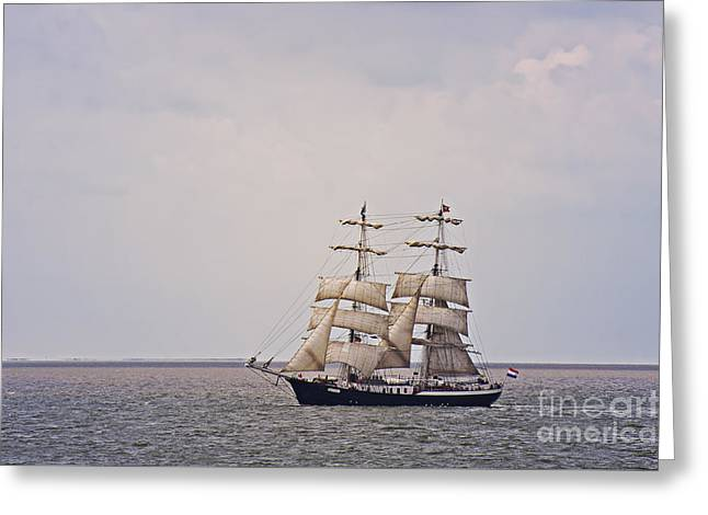 Sailing Ship Greeting Cards - Sailboat Greeting Card by Angela Doelling AD DESIGN Photo and PhotoArt
